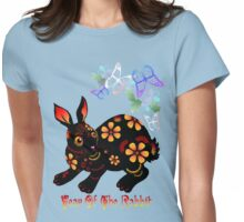 Year Of The Rabbit In Black  Womens Fitted T-Shirt