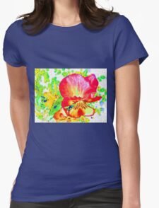 Yellow Garden Pansy Abstract T-Shirt