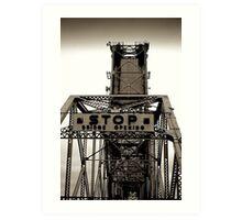 Industrial ~ Bridge Opening Art Print