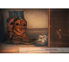 Home is Where You Take Your Boots Off Photographic Print