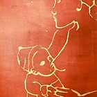 mother and child (red) by donnamalone