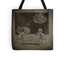 TWO BOYS TRY TO COMPREHEND THE INJUSTICE DONE TO GALILEO Tote Bag