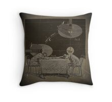 TWO BOYS TRY TO COMPREHEND THE INJUSTICE DONE TO GALILEO Throw Pillow