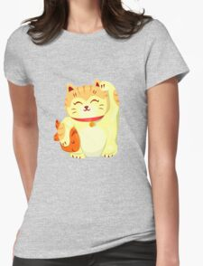 """FortuNEKO - """"Fuzzy"""" Womens Fitted T-Shirt"""