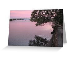 Twilight on the Maroochy River Greeting Card