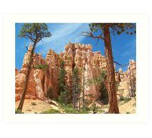 Desert Hills With Trees Art Print