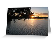 Maroochy River Sunset Greeting Card