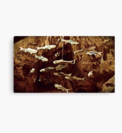 """Faux Fish Swim"" Canvas Print"