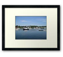 Boats at Dawn Framed Print