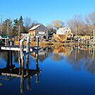 Essex Ship Yard - Essex, Massachusetts by Steve Borichevsky