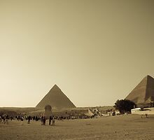 Pyramids in Giza, Cairo by NicoleBPhotos