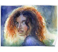 Woman in a sun portrait Svetlana Novikova Poster