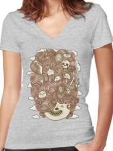 Crazy Hair Day Women's Fitted V-Neck T-Shirt