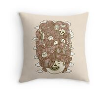 Crazy Hair Day Throw Pillow