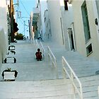 Solitude on the Stairs - Andros by Christine &quot;Xine&quot; Segalas