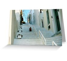 Solitude on the Stairs - Andros Greeting Card