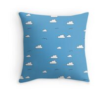 I love blue skies Throw Pillow