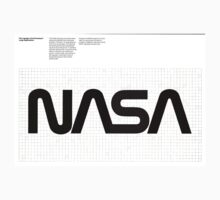 Nasa Graphics Standards Manual 1976 0003 The Logotype Grid Drawing for Large Applications One Piece - Short Sleeve