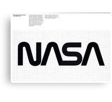 Nasa Graphics Standards Manual 1976 0003 The Logotype Grid Drawing for Large Applications Canvas Print
