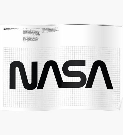 Nasa Graphics Standards Manual 1976 0003 The Logotype Grid Drawing for Large Applications Poster