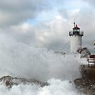 Roller hits Eastern Point - Gloucester, Massachusetts by Steve Borichevsky