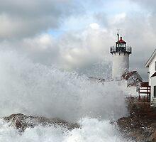 Roller hits Eastern Point - Gloucester, Massachusetts by Steve Borichevsky