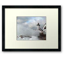 Roller hits Eastern Point - Gloucester, Massachusetts Framed Print