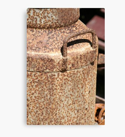 Old Rusty Milk Can Canvas Print