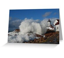 Day after the Storm - Eastern Point Light Greeting Card