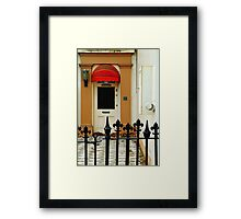 Red Canopy Framed Print