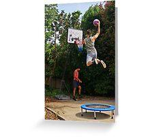 Slam-dunk Greeting Card