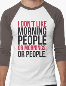 Morning People Funny Quote Men's Baseball ¾ T-Shirt