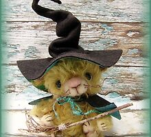 Merlin Mouse, Halloween Bear - Handmade bears from Teddy Bear Orphans by Penny Bonser