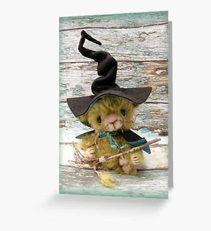 Merlin Mouse, Halloween Bear - Handmade bears from Teddy Bear Orphans Greeting Card