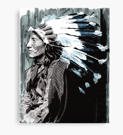Native American Chief 2 Canvas Print