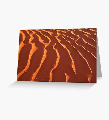Light Play,Simpson Desert Greeting Card