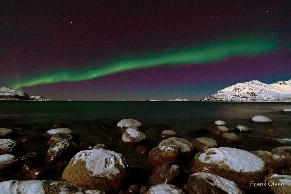 Aurora Borealis at the arctic shore II by Frank Olsen