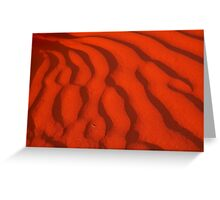 A Simpson Desert Red Sunset Greeting Card