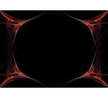 Fractal 40 Red Frame Photographic Print