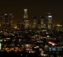 Night Life (Los Angeles as viewed from Mulholland Dr.) by Steve  Buffington