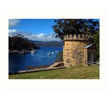 The Guard Tower (1842). Historic Port Arthur, Tasmania, Australia. Art Print