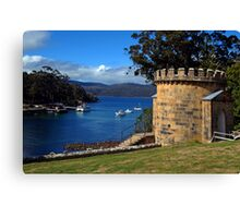 The Guard Tower (1842). Historic Port Arthur, Tasmania, Australia. Canvas Print