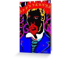 Vincent  Painting At Night Greeting Card
