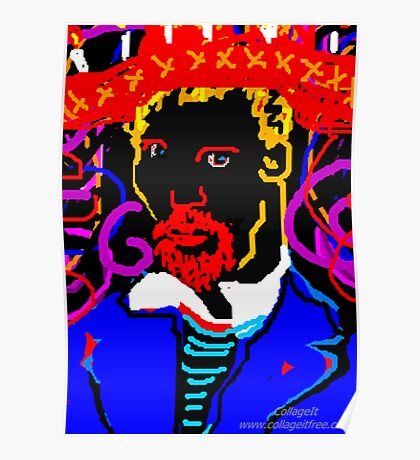 Vincent  Painting At Night Poster