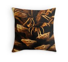Pinecone; Floral time series. Throw Pillow