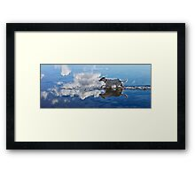 Zelda Running Through The Ocean Clouds Framed Print