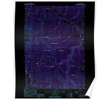 USGS Topo Map Oregon Bates 278951 1988 24000 Inverted Poster