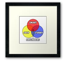 Venn Diagram - Engineers Framed Print