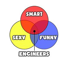 Venn Diagram - Engineers Photographic Print