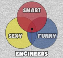 Venn Diagram - Engineers One Piece - Long Sleeve